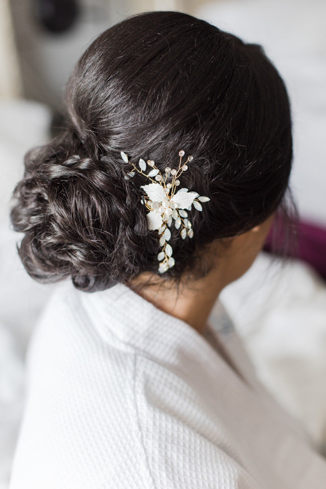 wedding hair accessories  at Stone House at Stirling Ridge Maryland Wedding by  Costola Photography