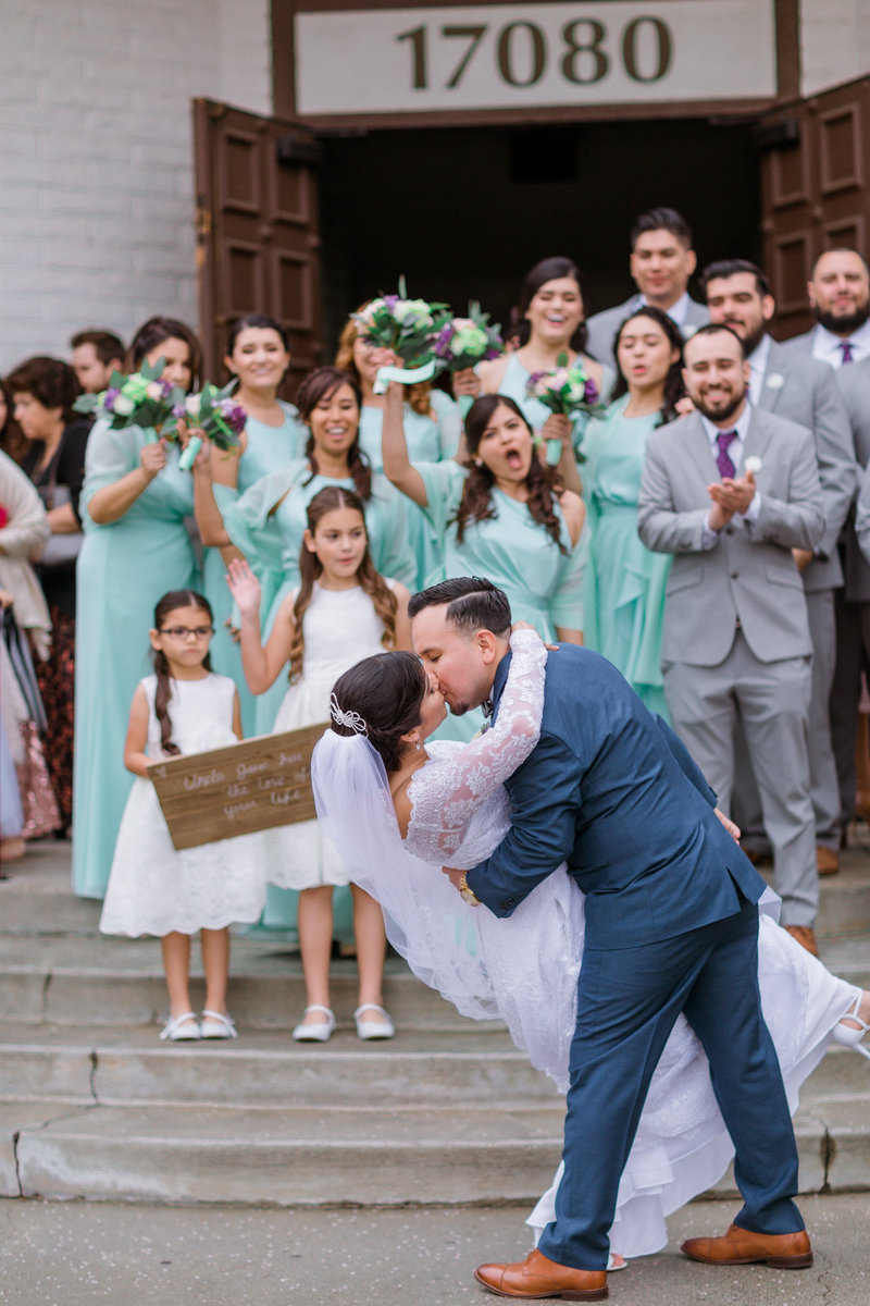 Rancho Las Fuentes Wedding | Mint and Purple-19