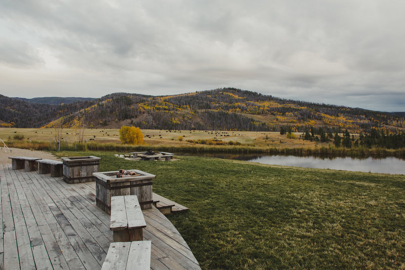 A view of the mountains from the wedding venue Strawberry Creek Ranch in Grandby, Colorado.