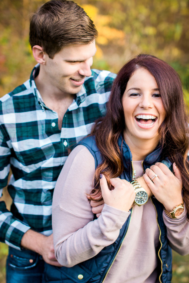 Beautiful Autumn Engagement session in Cincinnati Ohio