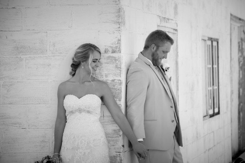 bride and groom before first look in northeast Nebraska