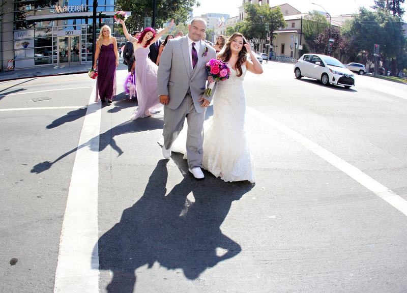 Bridal party, fun bridal party photo