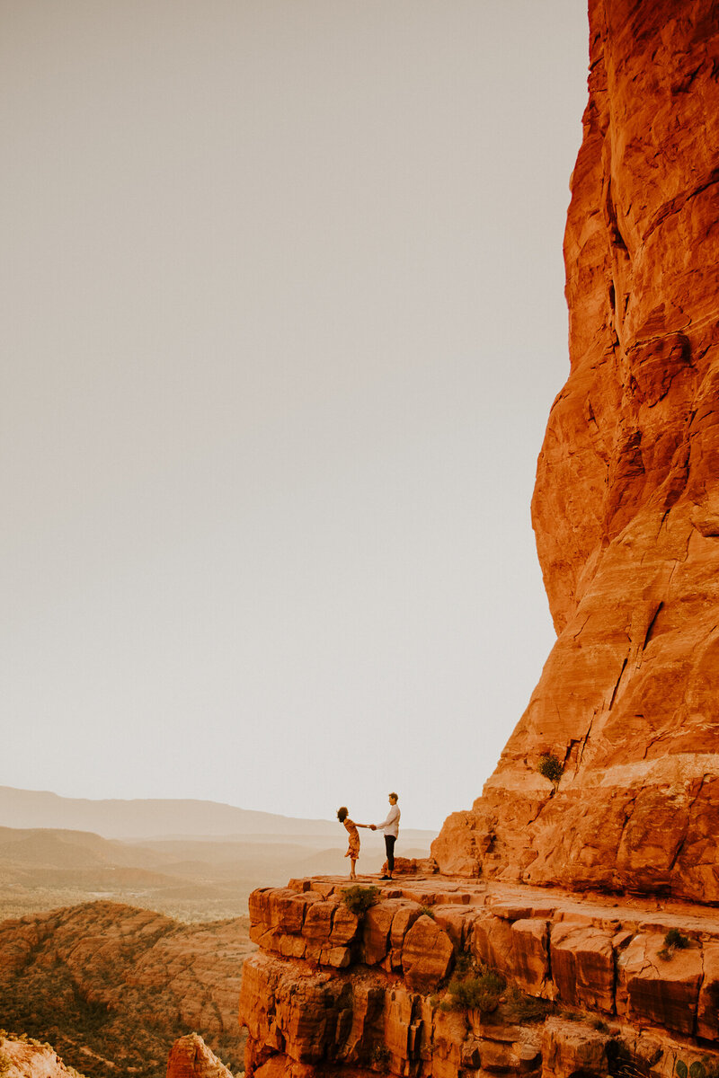 cathedral rock engagement photos
