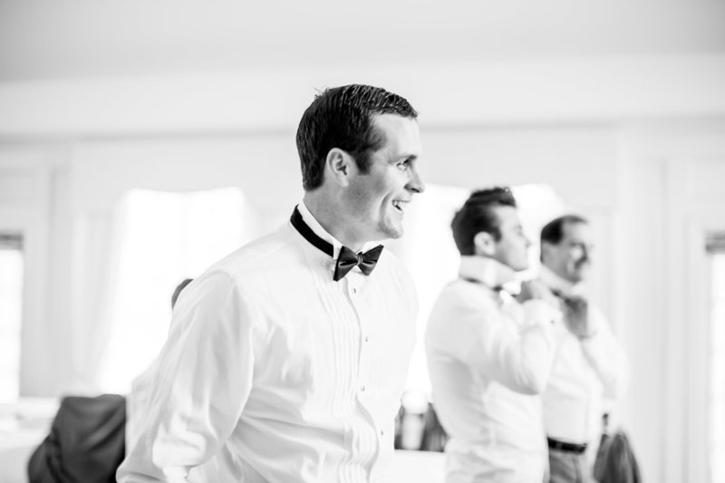 Bowties and Grooms Getting Ready Salem Ohio Country Club