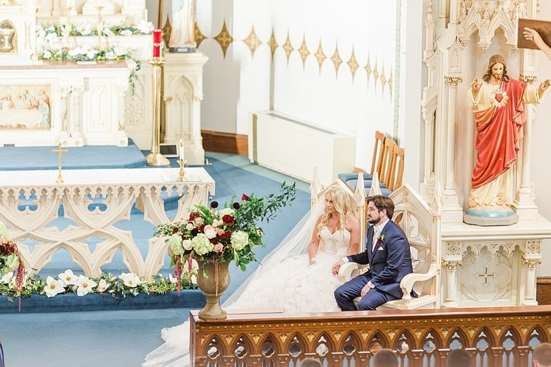 Wedding Ceremony at St Marys catholic church in Fredericksburg Texas and reception at National Museum of the Pacific war Nimitz in fredericksburg Texas Wedding Venue photos by Allison Jeffers Photography_0085