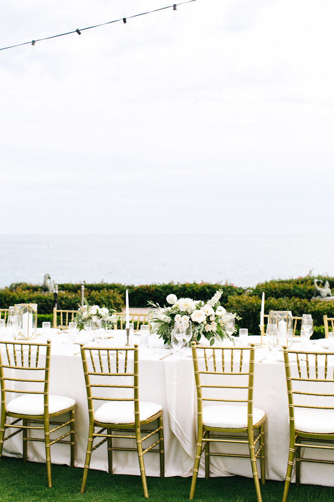 wedding reception at montage resort and spa in laguna beach