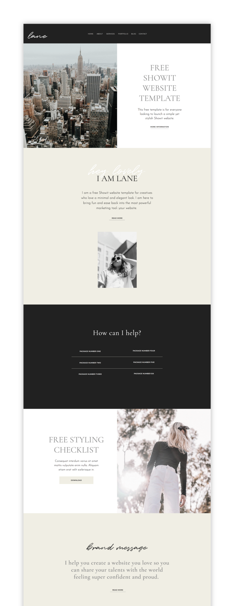The Roar Showit Web Design Website Template Creative Business Layout Lane