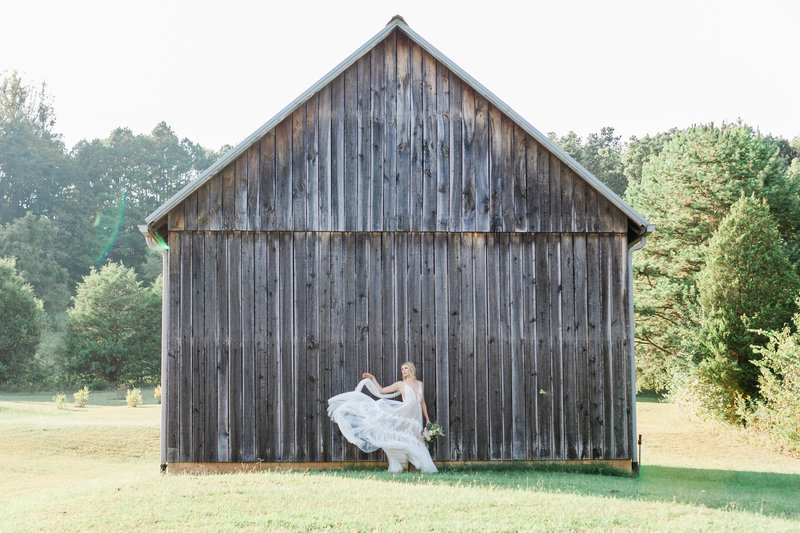 Barn Bridal Photo