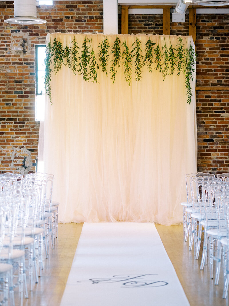 DIY Tulle Ceremony Backdrop