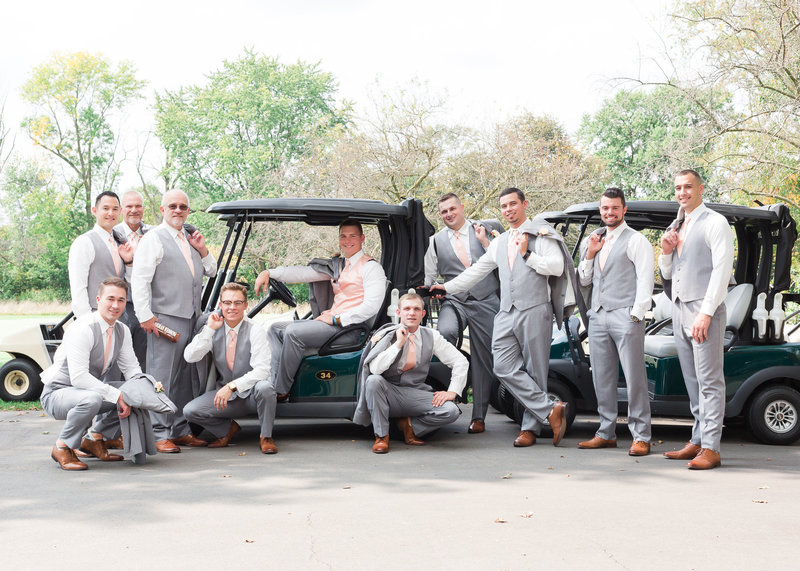 Groomsmen photo by Fort Wayne Wedding photographer Simply Seeking Photography