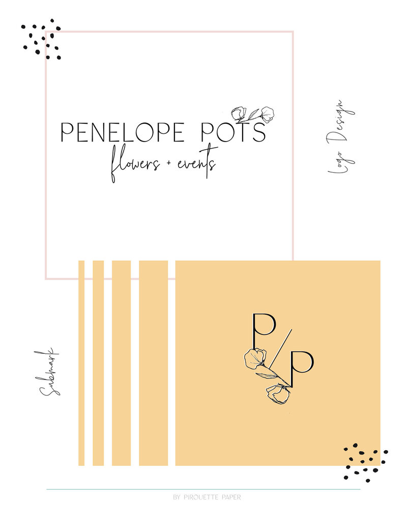 pirouettepaper.com _ Logo Design + Branding _ Pirouette Paper Company _ Penelope Pots Floral Design and Event Space in Long Beach, CA  (2)