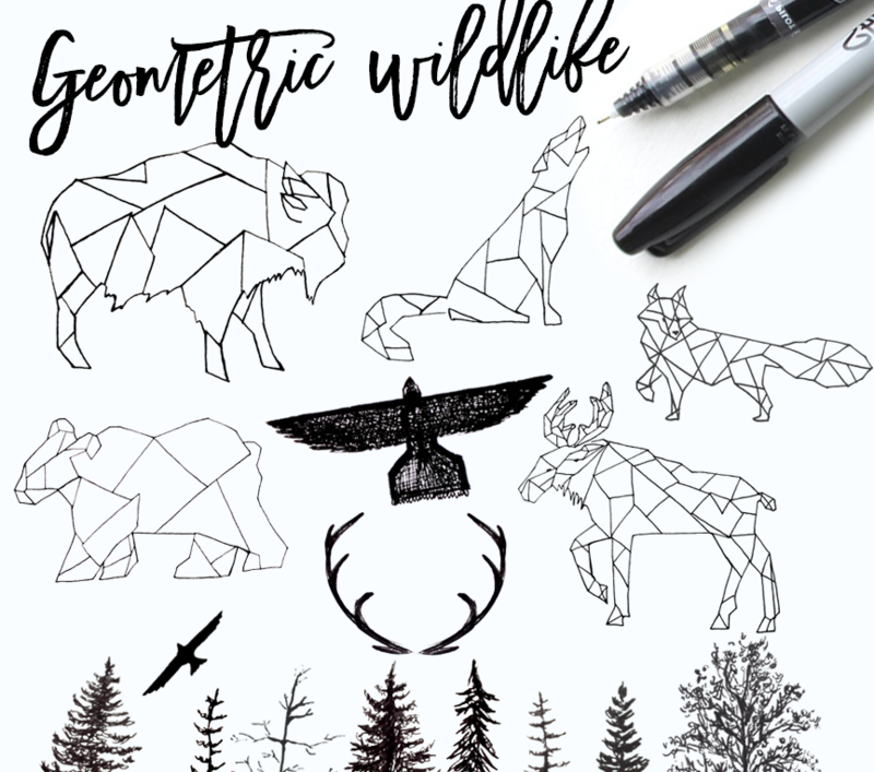 geometric wildlife