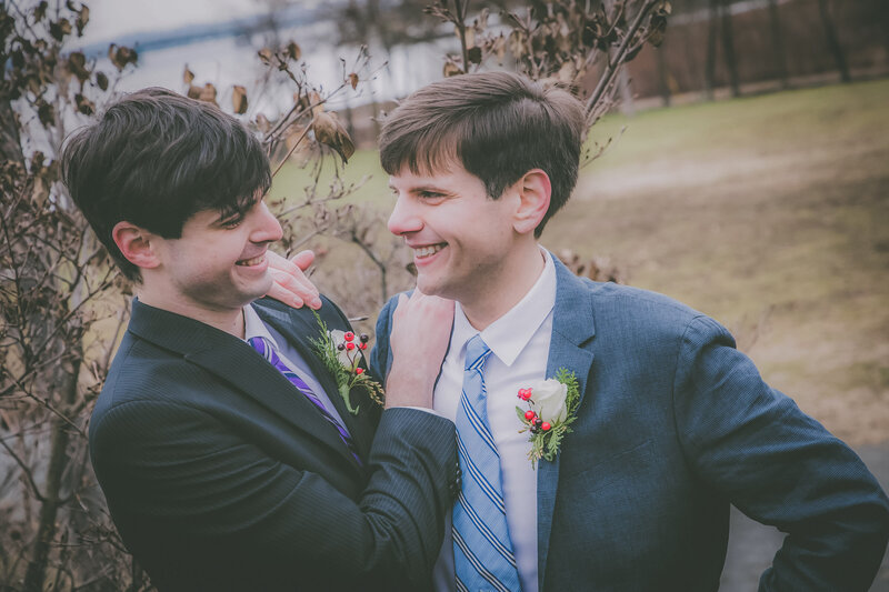 lgbtq-winter-elopement-grooms-smile-2