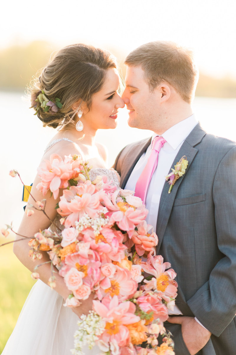 Coral Bouquet Annapolis Wedding photographer