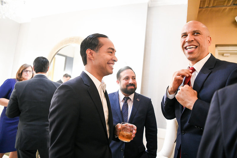 Julian Castro 2020 democratic primary with Cory Booker