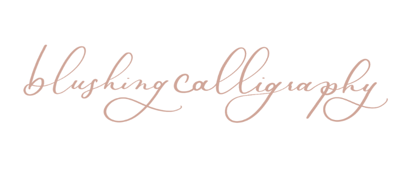 Blushing Calligraphy Logo