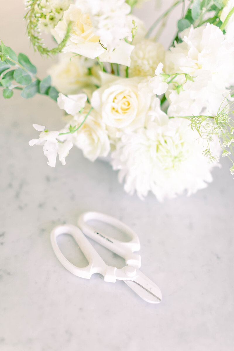 not jess a planner floral scissors flatlay