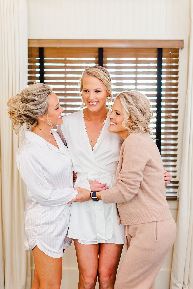bride, sister, and mother by Knoxville Wedding Photographer, Amanda May Photos