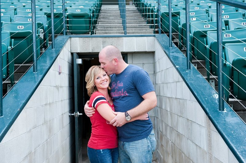 Fargo Red Hawks Engagement session at the stadium by kris kandel (10)