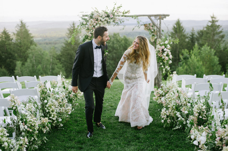 Mountain top ceremony at Cedar Lakes Estate in new York