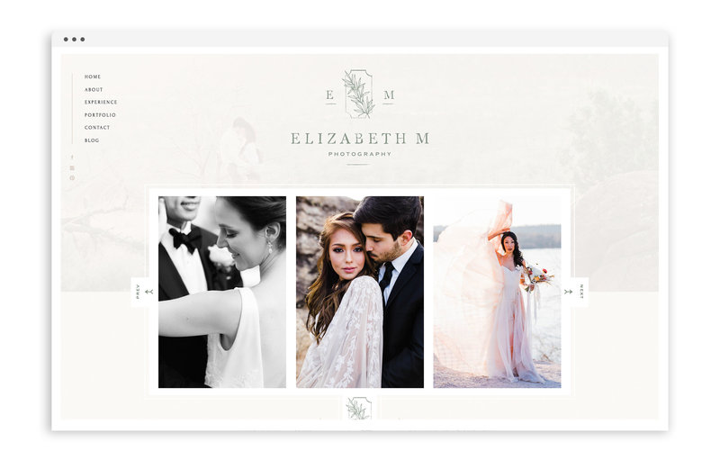 Elizabeth M Photography - With Grace and Gold - Logo Design, Stationery Design, and Web Design for Creative Women in Business - Photo - 1