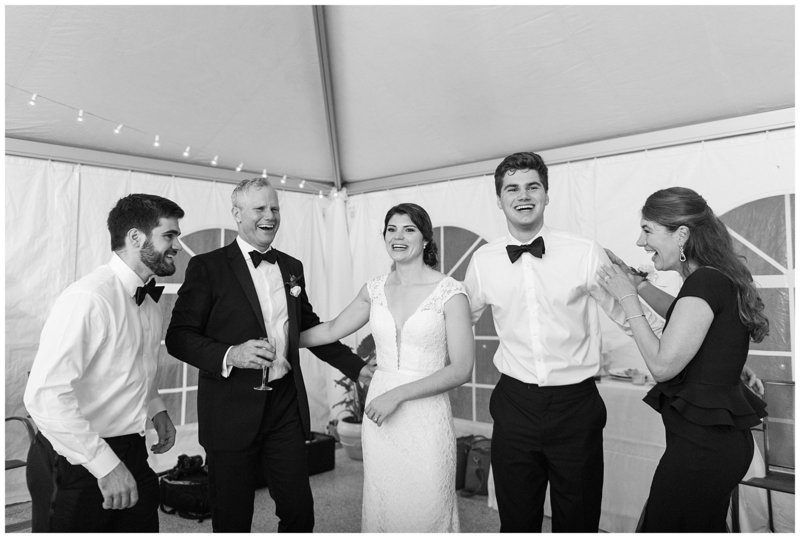 black-and-white-candid-reception-wedding-photo-virginia-wedding-photographer