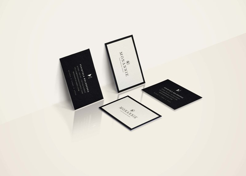 MonAnnie Cakes Business Cards | Cake Designer Branding