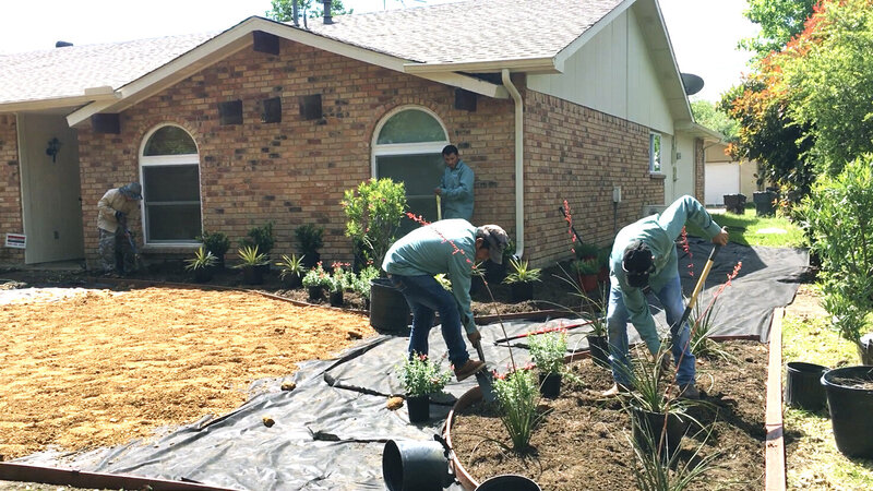 College Fund Landscaping Installation Process