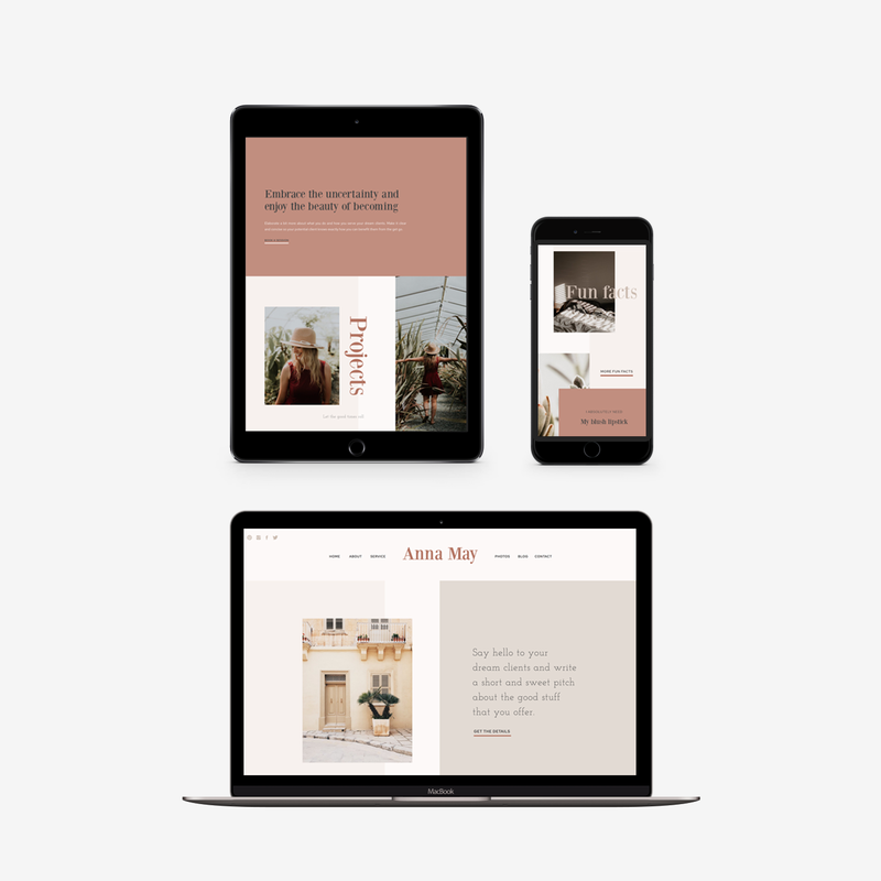 The Roar Showit Web Design Website Template Anna May Responsive