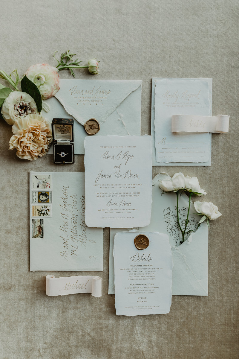 Gorgeous invitation suite by Ink and Pressco