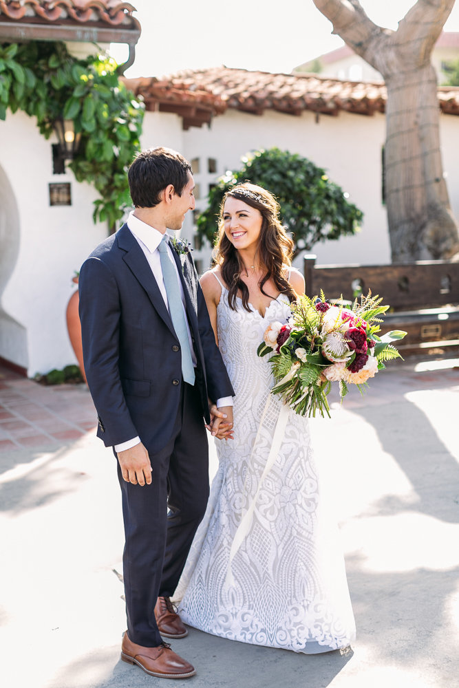 beautiful wedding at casa romantica with haley paige wedding dress in san clemente