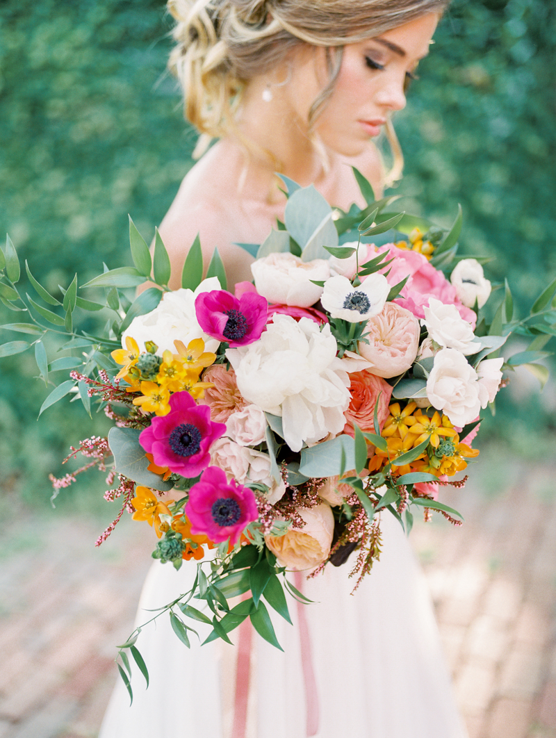 Whimsical Summer Wedding Styled Shoot at Henderson Castle Bride and Flowers