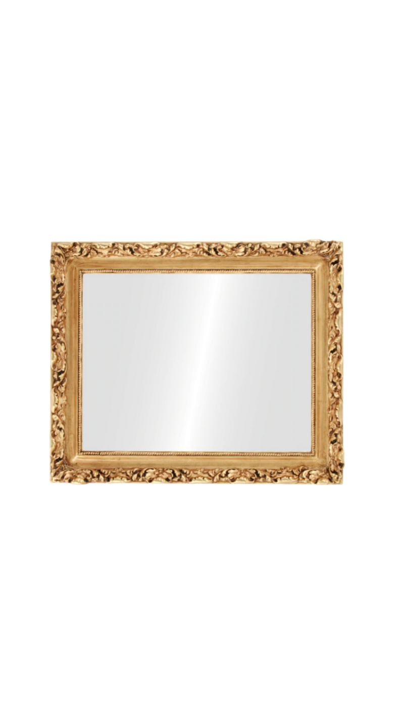 mirror -large gold