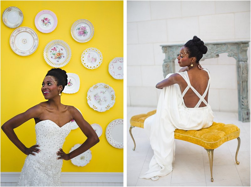 yellow vintage wedding inspiration
