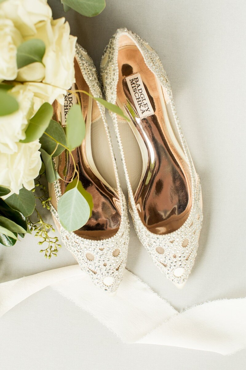 Wedding day flats from Badgley Mischka
