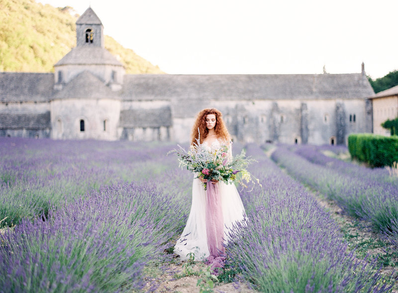 Provence Lavender wedding bridal session field
