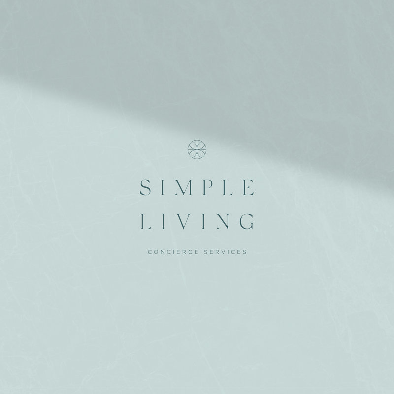 Secondary logo for Simple Living Concierge Services crafted by Rhema Design Co. and Kait Studio.