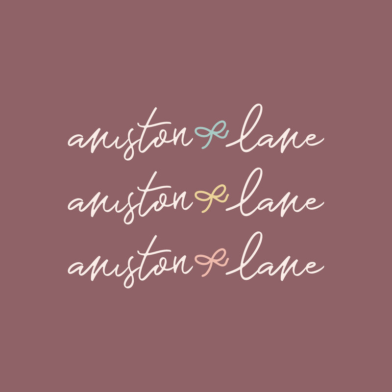 Aniston Lane Feminine Logo Design Etsy Shop