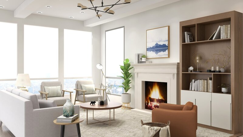 Open and Airy Living Room