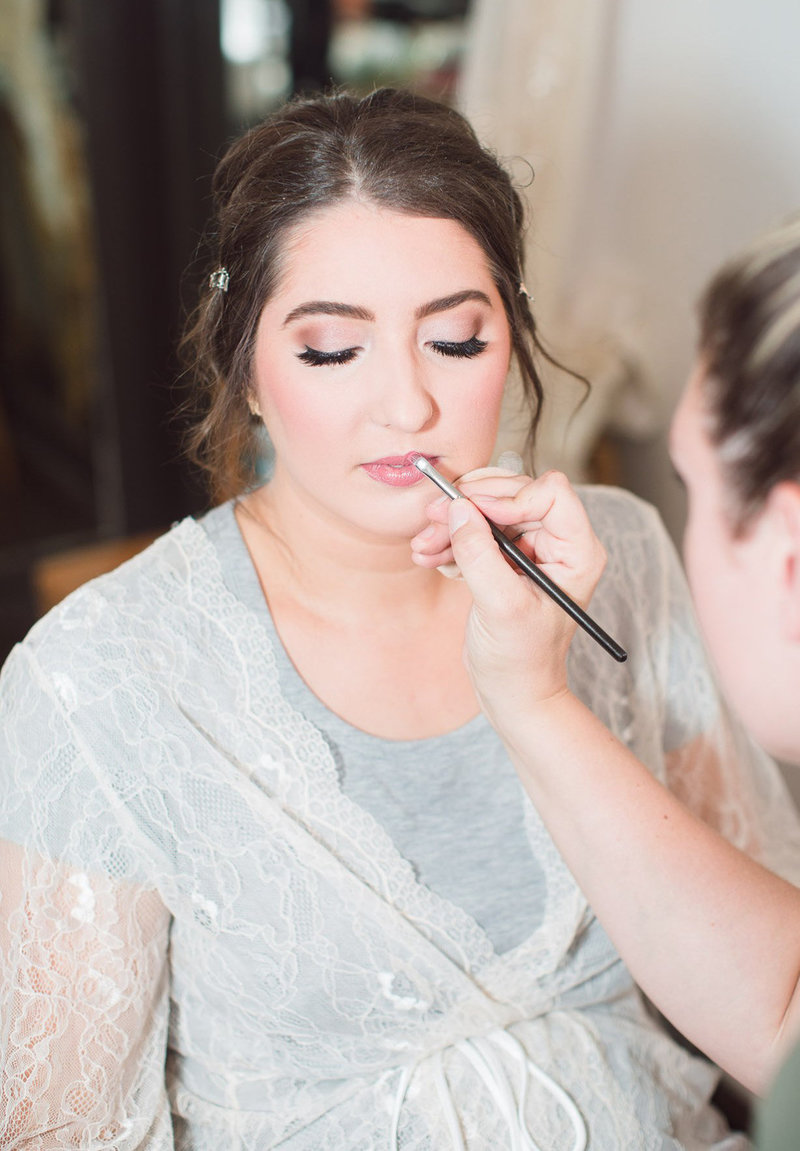 bridal makeup glam wedding day