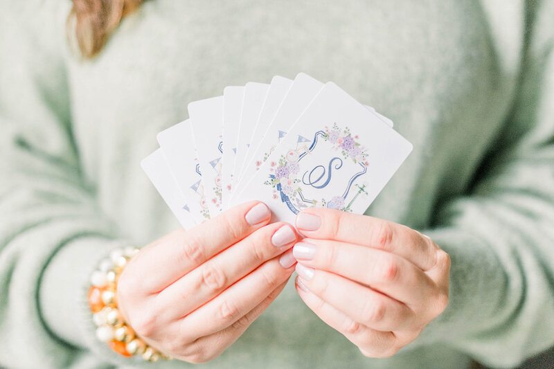 watercolor-wedding-crest-playing-cards-The-Welcoming-District