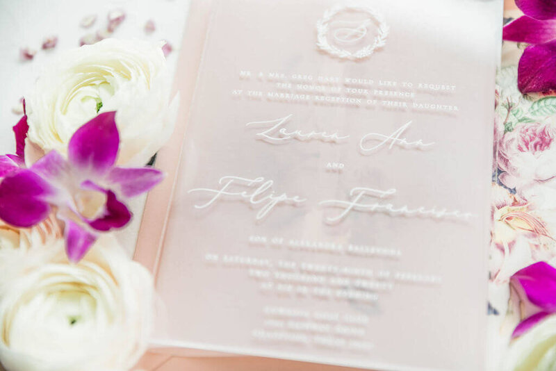 Blush, purple and blue wedding at Cowboys Golf Club Events