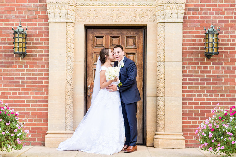 Inn at St Johns Michigan Wedding Bride and Groom Portraits Virginia Wedding Photographer