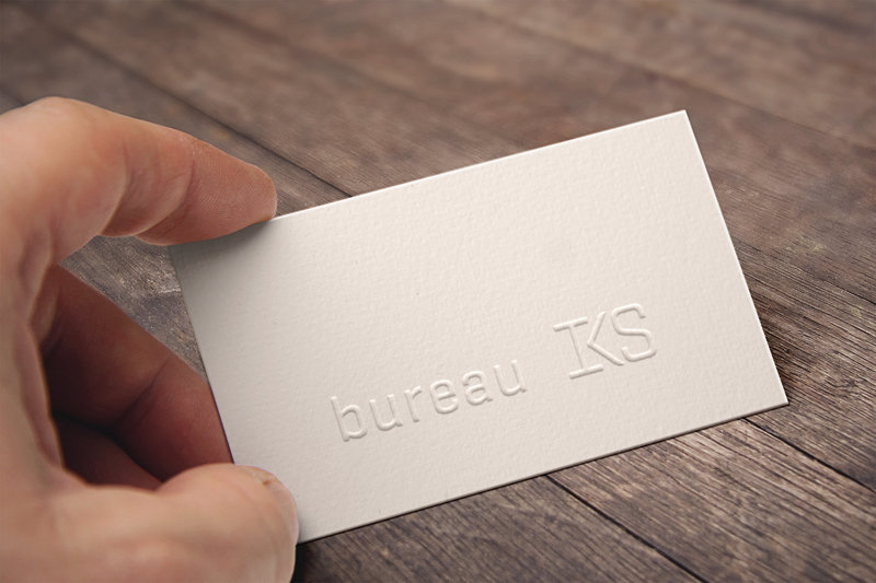 Embossed Business Card2