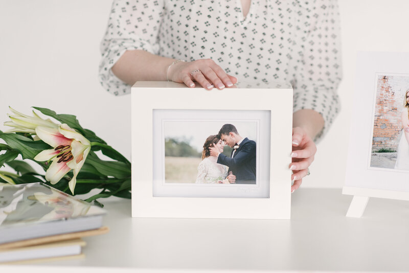 Framed photos from Fort Worth wedding