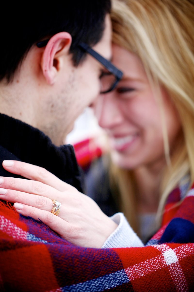 Downtown Wayzata Winter Proposal and Engagement