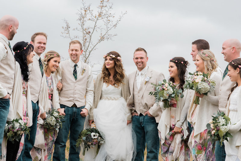 Red Deer Photographers-Raelene Schulmeister Photography- wedding photos-Leduc, Alberta-Wedding Party-Bouquets by Calyx Floral Design Red Deer