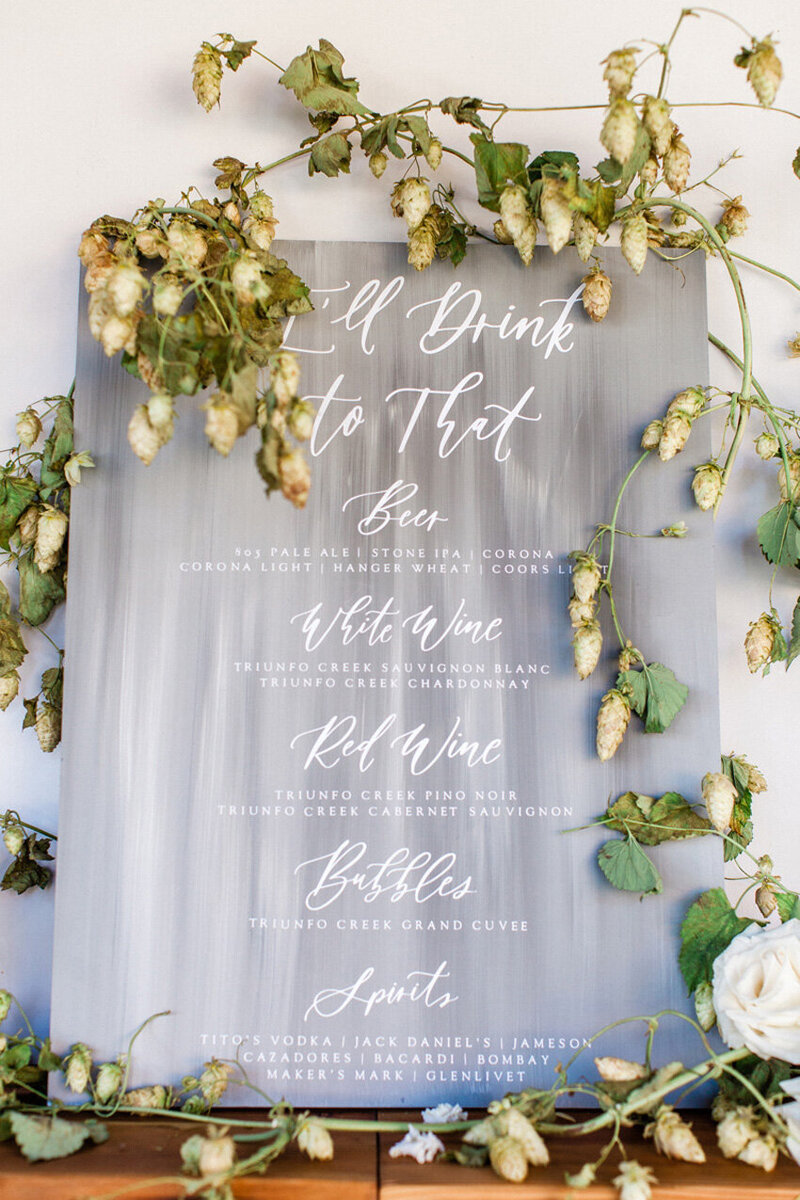 pirouettepaper.com | Wedding Stationery, Signage and Invitations | Pirouette Paper Company | Bar Signs and Bar Menus | Watercolor Signature Drinks 42