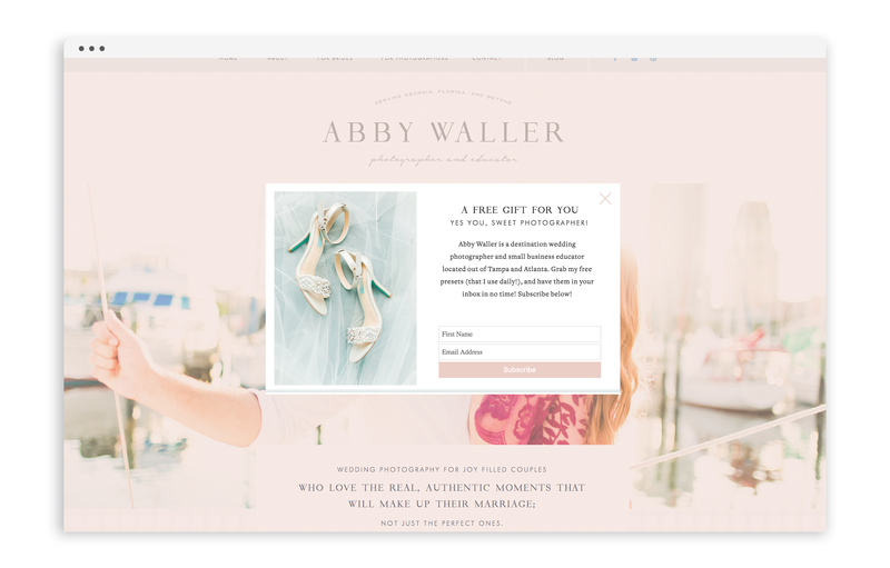 With Grace and Gold - Abby Waller Photography - Logo Design, Stationery Design, and Web Design for Photographers, Creative Women in Business - Photo - 11
