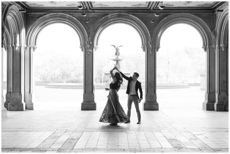 new-york-city-engagement-photographer-bethesda-terrace-black-and-white-photo